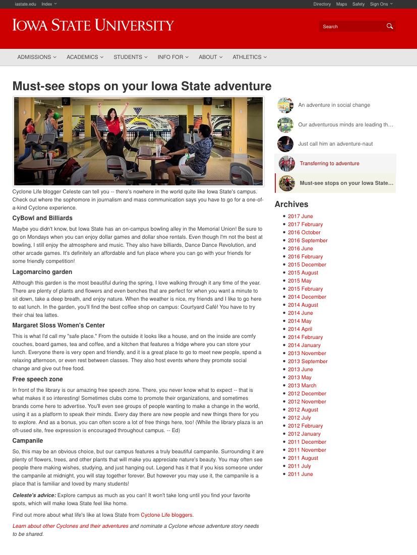isu homepage